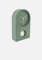 Present Time - Taut wall/table clock - green