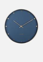 Present Time - Petite wall clock - blue