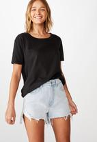 Cotton On - The heritage tee - black