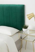 Sixth Floor - Panel headboard - emerald green