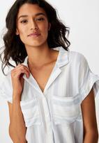 Cotton On - Emily chopped short sleeve shirt - multi