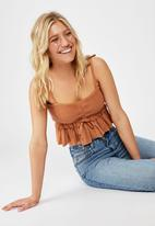 Cotton On - Gypsy shirred rouched bandeau - rust