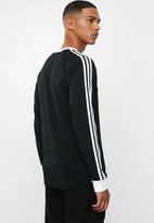 adidas Originals - 3 Stripe long sleeve tee - black & white