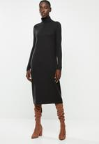 Vero Moda - Gava roll neck dress - black