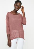 ONLY - Minnaelcos 3/4 top - pink