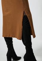 Superbalist - Crew neck T-shirt dress - brown
