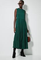 Superbalist - Sleeveless tiered dress - green