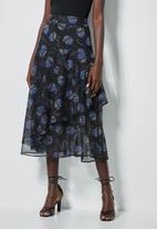 Superbalist - Floral asymmetric skirt - multi