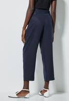 Superbalist - Paperbag mom trousers - navy
