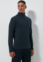 Superbalist - Plain roll neck tee - navy