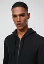 Superbalist - Basic zip through hoodie - black