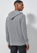 Superbalist - Noel zip through hoodie - grey