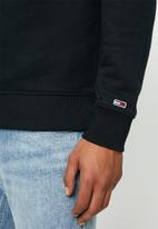 Tommy Hilfiger - Tjm essential flag crew - black