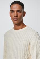 Superbalist - Premium cable knit - cream