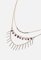 Rubi - Endless love trinkets necklace - gold & purple