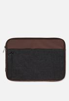 Typo - Take charge 13 inch laptop cover - black & brown
