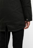 Only & Sons - Alex parka jacket - black