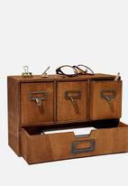 Typo - Desk storage - vintage wood