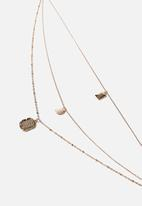 Rubi - Boho lux trinkets necklace - gold