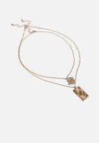 Rubi - Ray of light trinkets necklace - gold