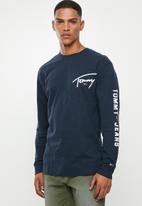 Tommy Hilfiger - Tjm sleeve logo long sleeve tee - navy