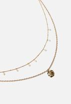 Rubi - Ocean vibes trinkets necklace  - gold