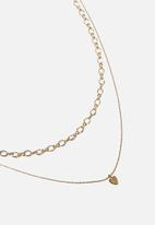 Rubi - Unchained heart trinkets necklace - gold