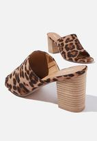 Cotton On - Colette heeled mule - leopard