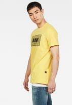 G-Star RAW - Boxed short sleeve tee - yellow