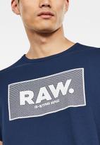G-Star RAW - Boxed short sleeve tee - blue