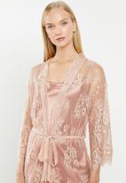 Superbalist - Lace robe - peach