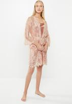 Superbalist - Lace robe - peach