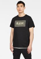G-Star RAW - Boxed graphic tee - black