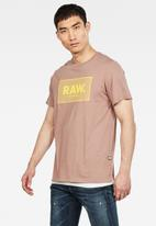 G-Star RAW - Boxed short sleeve tee - pink