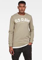 G-Star RAW - G-star long sleeve tee - beige