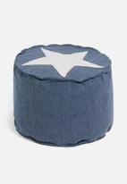 H&S - Star ottoman - blue