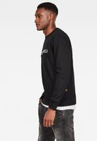 G-Star RAW - Embro paneled round neck sweater - black