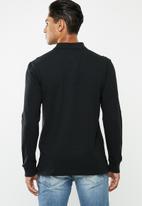 Tommy Hilfiger - Tjm chest logo long sleeve polo - black