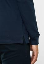 Tommy Hilfiger - Tjm stretch slim long sleeve polo - navy