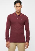 Tommy Hilfiger - Tjm stretch slim long sleeve polo - burgundy