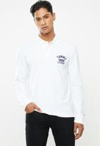 Tommy Hilfiger - Tjm chest logo long sleeve polo - white