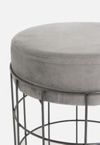 H&S - Wire ottoman - light grey