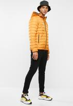 Only & Sons - George quilted hooded jacket - yellow
