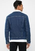 Tommy Hilfiger - Regular sherpa denim jacket - blue