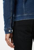 Tommy Hilfiger - Regular sherpa denim jacket - blue