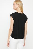 MANGO - Short sleeve tee - black