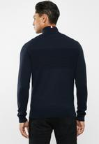 Tommy Hilfiger - Placed structure long sleeve top - navy