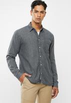 Tommy Hilfiger - Regular denim shirt - charcoal