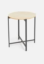 H&S - Harriet side table - natural & black