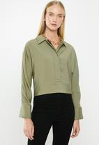 MANGO - Aloe long sleeve shirt - khaki